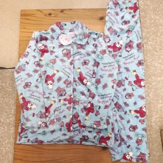 サンリオ - 新品タグ付き ブルー マイメロディ ふわもこパジャマ フリーサイズ