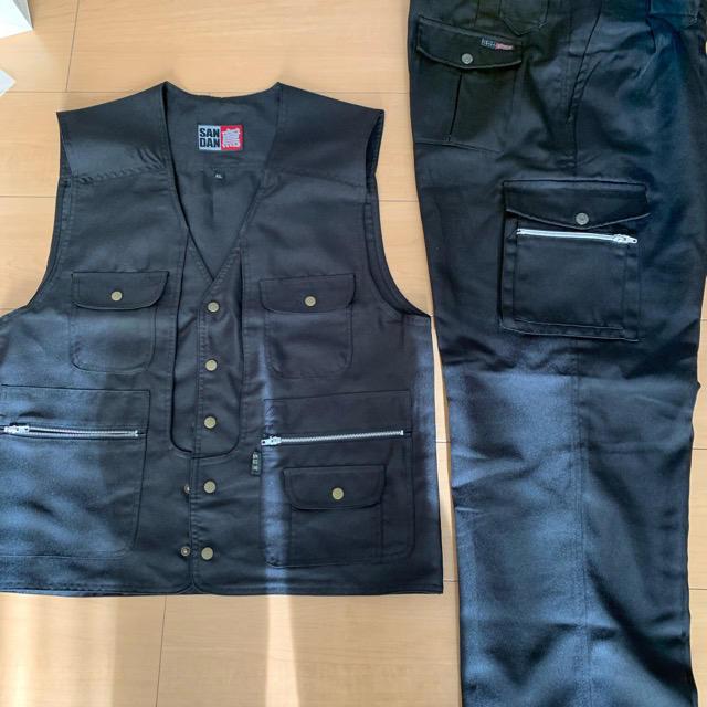 寅壱(トライチ)の三段鳶 上着ベスト&作業ズボン ほぼ新品 メンズのパンツ(ワークパンツ/カーゴパンツ)の商品写真