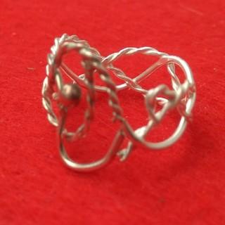 銀の指輪(三つ編み)(リング(指輪))