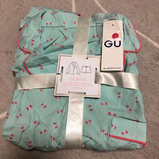 ジーユー(GU)のGU パジャマ(リボン)長袖&ショートパンツ(パジャマ)