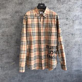 BURBERRY - BURBERRY★ロゴプリントチェックシャツ