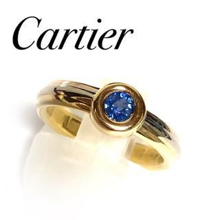 カルティエ(Cartier)のカルティエ K18 YG PG WG サファイア リング トリニティ 750(リング(指輪))