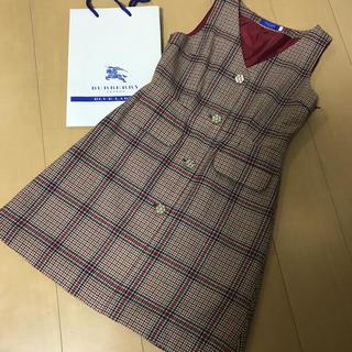 BURBERRY BLUE LABEL - バーバリーブルーレーベル クレストブリッジ♡ワンピース♡ジャンパースカート