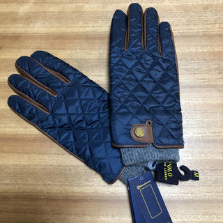 ポロラルフローレン(POLO RALPH LAUREN)の新品タグ付き ラルフローレン レザーコンビ手袋 Mサイズ(24センチ)(手袋)