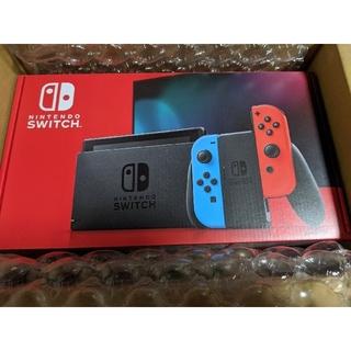 ニンテンドースイッチ(Nintendo Switch)の新品未開封 Nintendo switch 本体 ネオンブルーネオンレッド(家庭用ゲーム機本体)