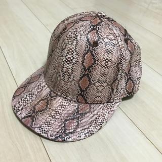 ザラ(ZARA)のsale 新品未使用 蛇柄 キャップ メンズ レディース (キャップ)