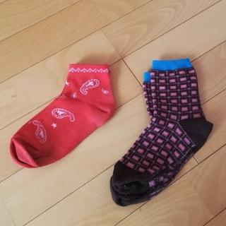 シマムラ(しまむら)の柄物靴下2点セット(ソックス)