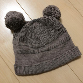 センスオブワンダー(sense of wonder)のポンポン耳付きニット帽(帽子)