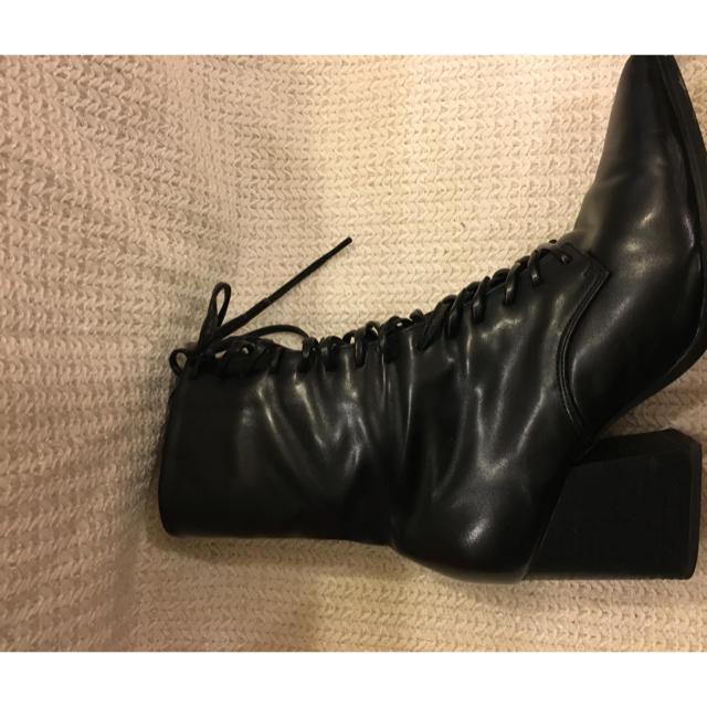 snidel(スナイデル)の【snidel】レースアップショートブーツ レディースの靴/シューズ(ブーツ)の商品写真