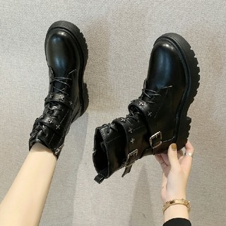 新作 ファッション  個性派 ベルトバックル ブーツ   (ブーツ)
