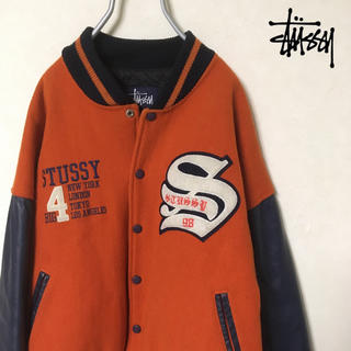 STUSSY - stussy 90s BIG4 スタジャン Made in U.S.A.