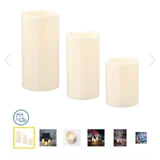 IKEA - IKEA LEDキャンドル3本セット(電池付)