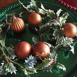 アメリカ クリスマスツリーオーナメント ゴージャスゴールド 5個