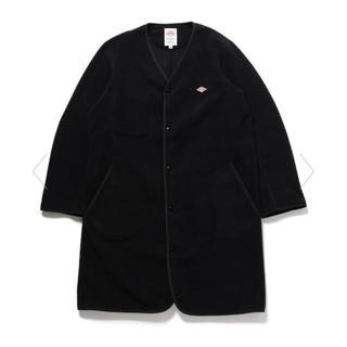 DANTON - ダントンDanton★フリースロングジャケットコート★ブラック36