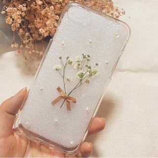 iPhone - iphoneケース スマホケース かすみ草 レジン 韓国