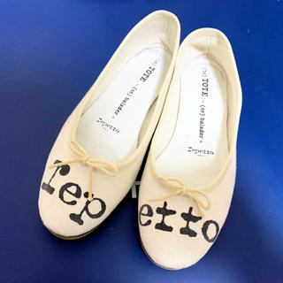 repetto - Lepetto♡ロゴキャンパスバレエシューズ