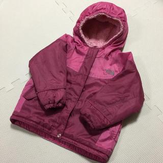 THE NORTH FACE - 暖かい♡ノースフェイス 裏ボア フード付きジャケット 100 ピンク