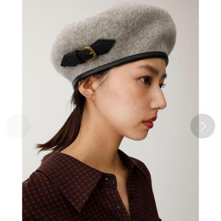 マウジー(moussy)のブラウン moussy ベレー帽(ハンチング/ベレー帽)