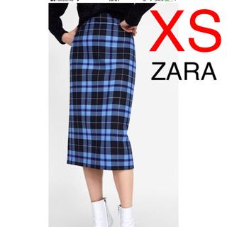 ZARA - ZARA チェック柄 チェック スカート タイトスカート
