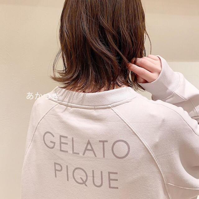 gelato pique(ジェラートピケ)の新品未使用 上下セット◆ジェラートピケ ロゴプルオーバー ロングパンツ レディースのルームウェア/パジャマ(ルームウェア)の商品写真