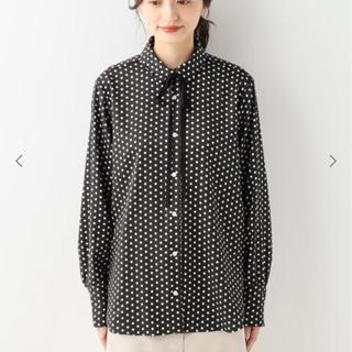IENA - IENA sese リボンドットタイシャツ ブラック