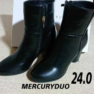 MERCURYDUO - 【新品】MERCURYDUO ウッドヒールショートブーツ