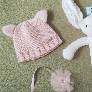 プティマイン(petit main)のプティマイン ねこニット帽(帽子)