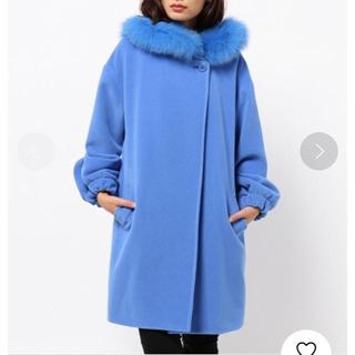 ダブルスタンダードクロージング(DOUBLE STANDARD CLOTHING)のダブスタニングロンハーマンルシェルブルーコート(毛皮/ファーコート)