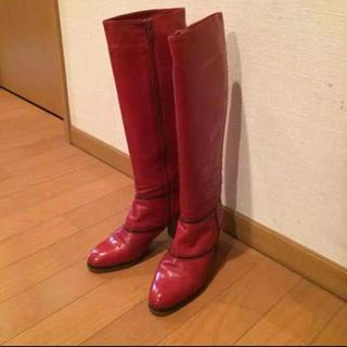 バーニーズニューヨーク(BARNEYS NEW YORK)のイタリア製fauzian jeunesse 高級ブーツ22.5cm(ブーツ)