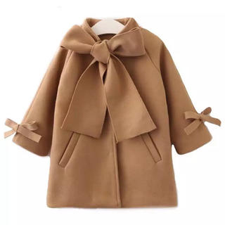 ZARA KIDS - キッズ ウールコート 防寒 冬 コード 韓国子供服 100