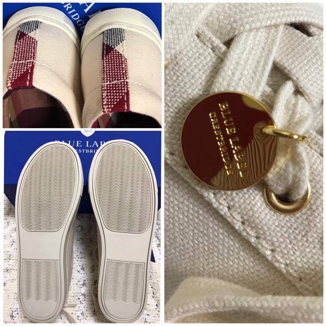 【新品】ブルーレーベルクレストブリッジ キャンバススニーカー サイズ23.5㎝ レディースの靴/シューズ(スニーカー)の商品写真