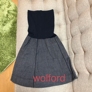 ラペルラ(LA PERLA)のwolford ワンピース 36  ペアトップ&ツイードスカート (ひざ丈ワンピース)