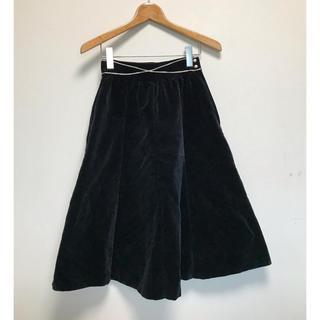 サンタモニカ(Santa Monica)のVINTAGE ベロア 刺繍 スカート(ひざ丈スカート)