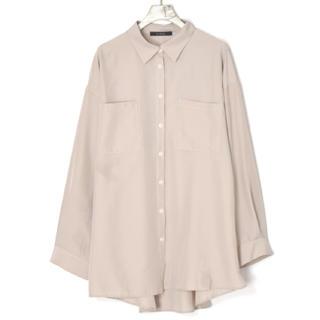 ダブルクローゼット(w closet)のダブルクローゼット スパンブロードbigシャツ(シャツ/ブラウス(長袖/七分))