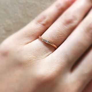 ヨンドシー(4℃)のカナル 4℃ k10 ピンクゴールド リング ダイヤモンド(リング(指輪))