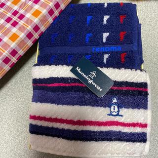 マンシングウェア(Munsingwear)のMunsingwearマンシングウェアとレノマのタオルハンカチ 新品 未使用(ハンカチ/ポケットチーフ)