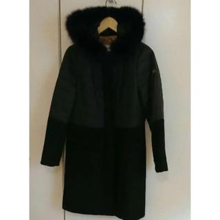 ダブルスタンダードクロージング(DOUBLE STANDARD CLOTHING)のFIL DIRE 異素材 コート  アンゴラ  フォックス(ロングコート)