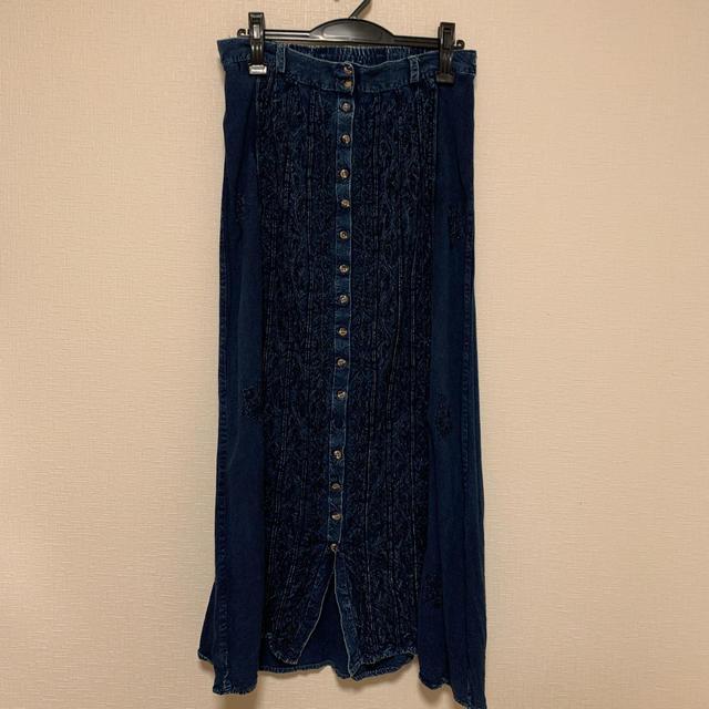 Lochie(ロキエ)のvintage 古着 インディアン綿 スカート レディースのスカート(ロングスカート)の商品写真