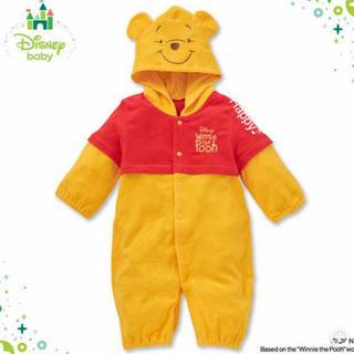 ディズニー(Disney)のくまのプーさん ★新品★ ロンパース あったかい 着ぐるみ 新生児(ロンパース)