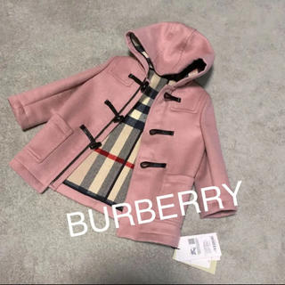 BURBERRY - 新品タグ付き⭐︎BURBERRY ピンク ダッフルコート