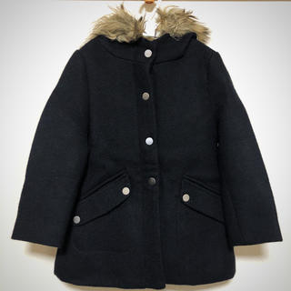 ZARA - 美品 ZARA フード付き コート