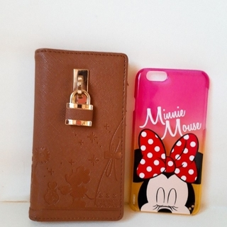 Disney - ディズニーストア iPhone6/6s スマホケース 2点セット ミニー