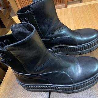 プーマ(PUMA)のお色は黒です。24.5センチ(ブーツ)