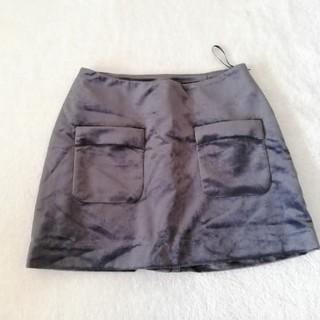 スコットクラブ(SCOT CLUB)の定価10500円 新品 スコットクラブ スカート* ベロア調 グレー(ミニスカート)