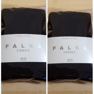 イエナ(IENA)の新品未使用 falke ファルケ 40-42 ファミリータイツ 2足セット(タイツ/ストッキング)