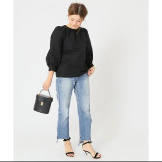 DEUXIEME CLASSE - 美品 ドゥーズィエムクラス CELERI パフブラウス ブラック シャツ
