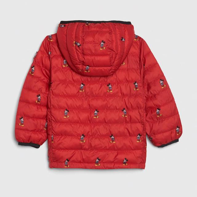 babyGAP(ベビーギャップ)の❤️110ミッキー総柄ダウンジャケットGAP キッズ/ベビー/マタニティのキッズ服男の子用(90cm~)(ジャケット/上着)の商品写真