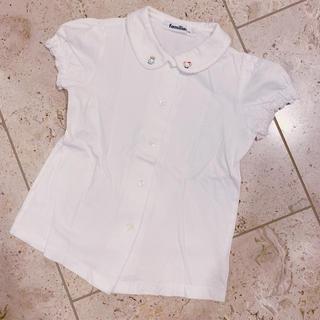 familiar - familiar コットンポロシャツ