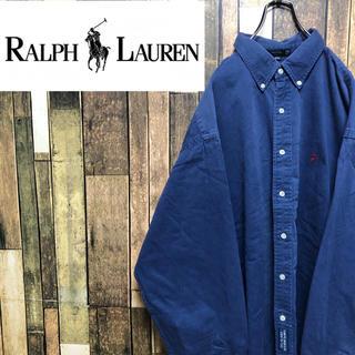Ralph Lauren - 【激レア】ラルフローレン☆ワンポイント刺繍ロゴチノスーパービッグシャツ 90s