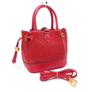 キタムラ(Kitamura)の美品■ Kitamura トートバッグ 2way ショルダーバッグ 赤 可愛い(ハンドバッグ)